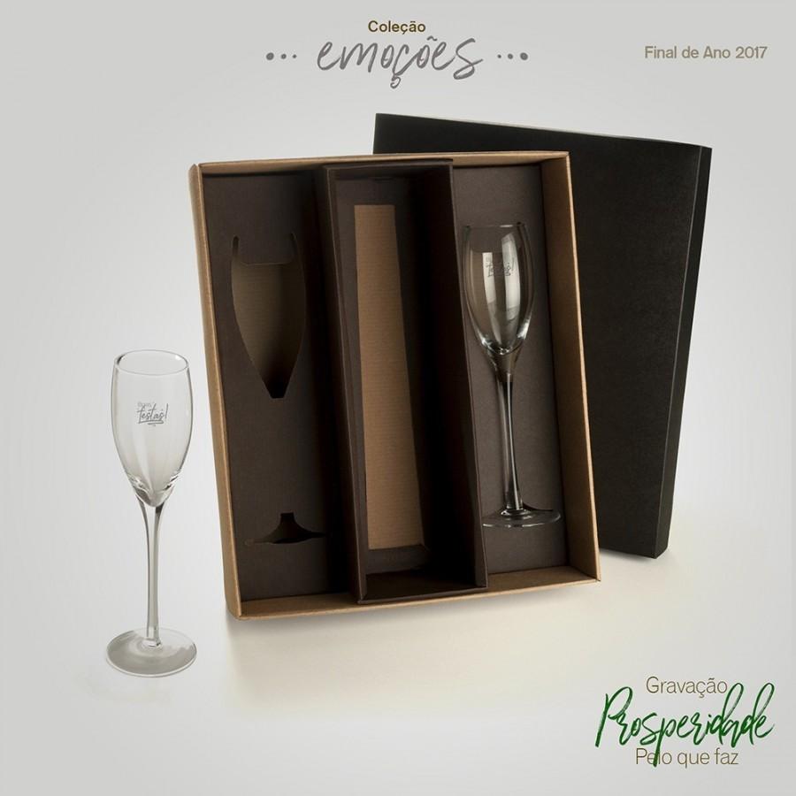 Jogo de Taças de Vidro p/ Champagne 140 ml - 2 Pçs