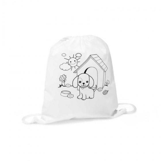 Sacola tipo mochila para colorir - 52619.06
