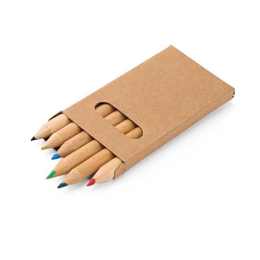 Caixa de cartão com 6 mini lápis - 91750.60