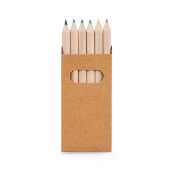 Caixa de cartão com 6 mini lápis - 91750-150