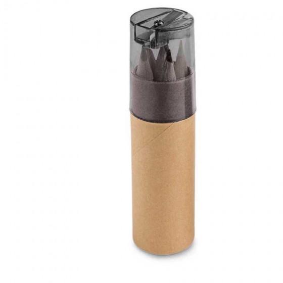 Caixa de cartão com 6 mini lápis - 91751-103