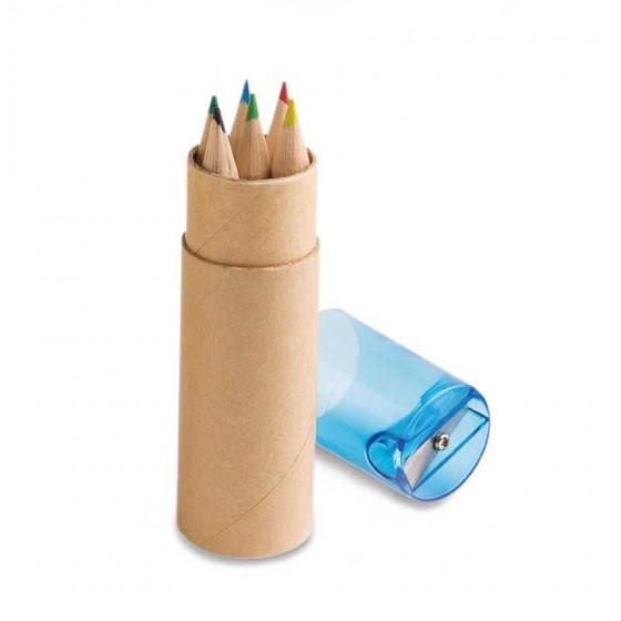 Caixa de cartão com 6 mini lápis - 91751.04