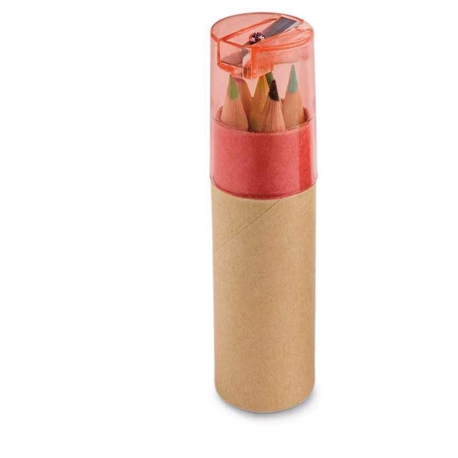 Caixa de cartão com 6 mini lápis - 91751.05