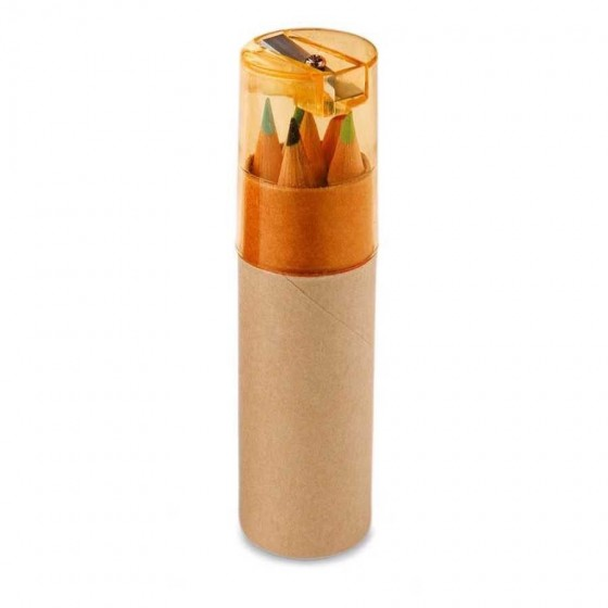 Caixa de cartão com 6 mini lápis - 91751.10