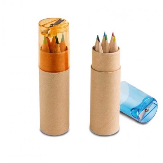 Caixa de cartão com 6 mini lápis - 91751-128