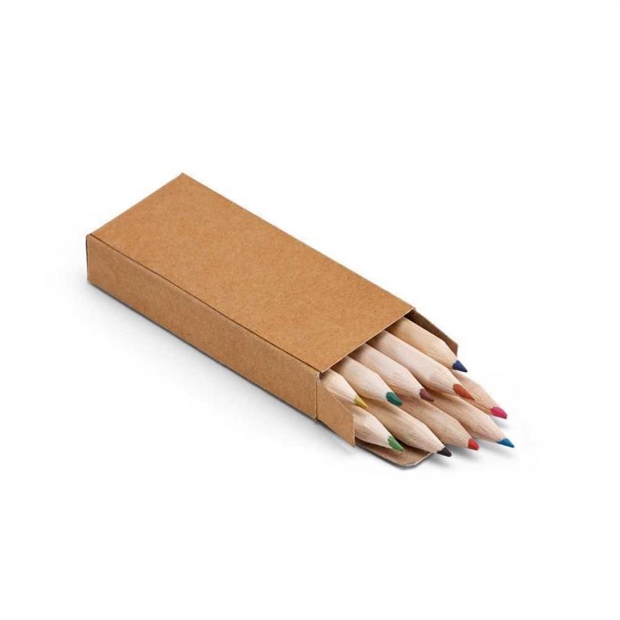 Caixa de cartão com 10 mini lápis - 91931.60
