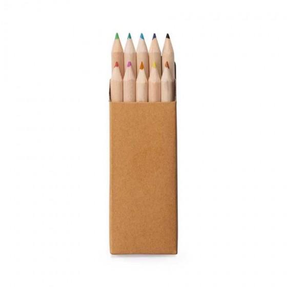 Caixa de cartão com 10 mini lápis - 91931-150