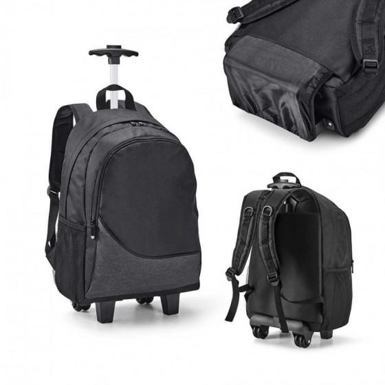 Mochila trolley para notebook poliéster 300D. Com 2 rodas duplas - 92183-113