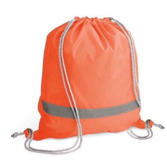 Sacola tipo mochila. 210D. Com elementos refletivos - 92835-128