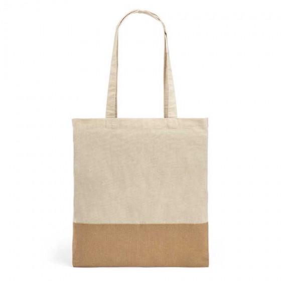 Sacola 100% algodão: 160 g/m². Detalhe em juta - 92882-160