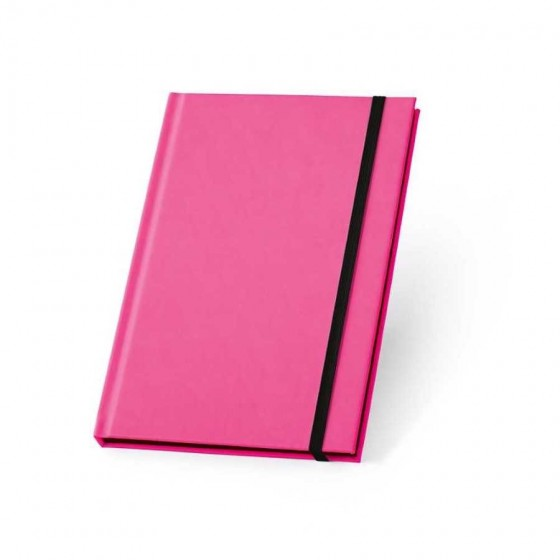 Caderno capa dura em PU fluorescente com 96 folhas pautadas - 93269-102