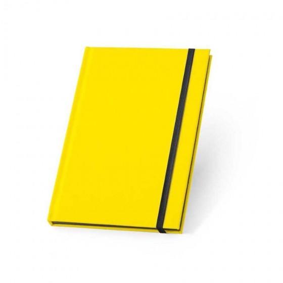 Caderno capa dura em PU fluorescente com 96 folhas pautadas - 93269-108