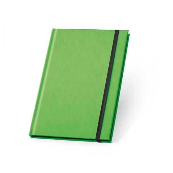 Caderno capa dura em PU fluorescente com 96 folhas pautadas - 93269-119