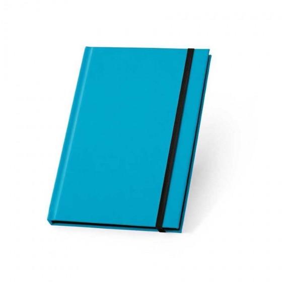 Caderno capa dura em PU fluorescente com 96 folhas pautadas - 93269-124