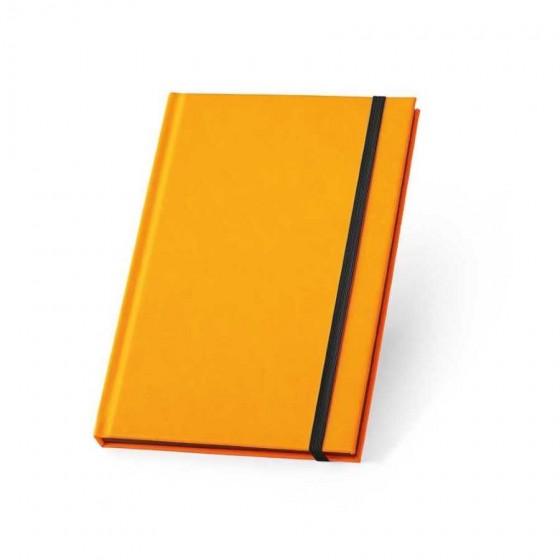 Caderno capa dura em PU fluorescente com 96 folhas pautadas - 93269-128