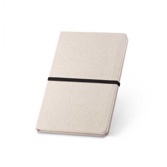 Caderno capa dura em Linho com 96 folhas pautadas    - 93270-103