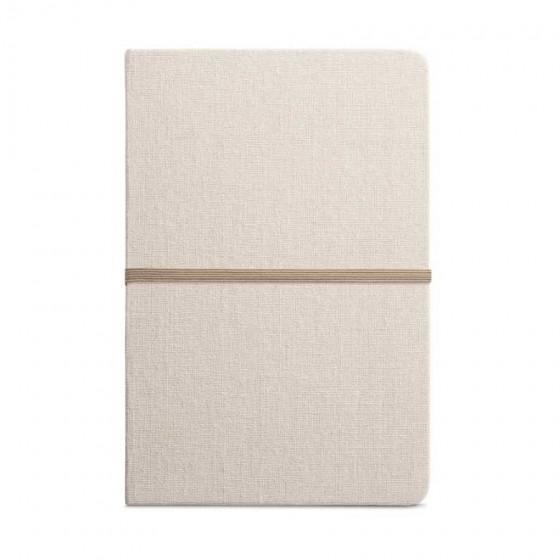 Caderno capa dura em Linho com 96 folhas pautadas    - 93270-160