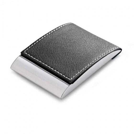 Porta cartões. Metal e c. sintético - 93308.03