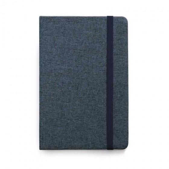 Caderno capa dura. Tecido em poliéster com 80 folhas  - 93591-104