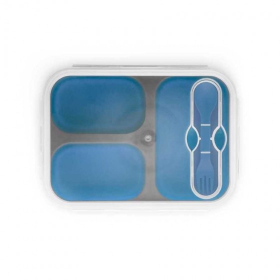 Marmita retrátil em Silicone e PP com 3 compartimentos - 93849-114