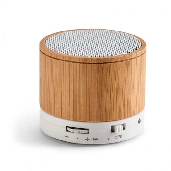Caixa de som em Bambu com microfone e transmissão Bluetooth - 97256-160