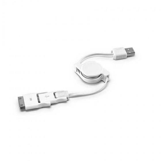 Cabo USB retrátil 3 em 1. ABS - 97313-106