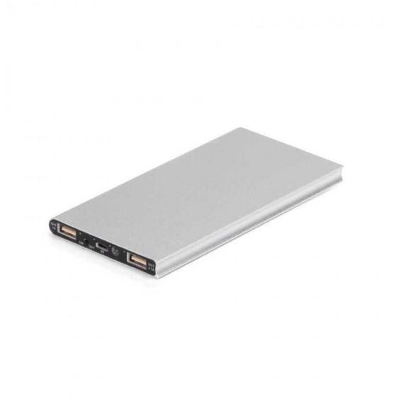 Bateria portátil solar. Alumínio. Acabamento emborrachado - 97314-127